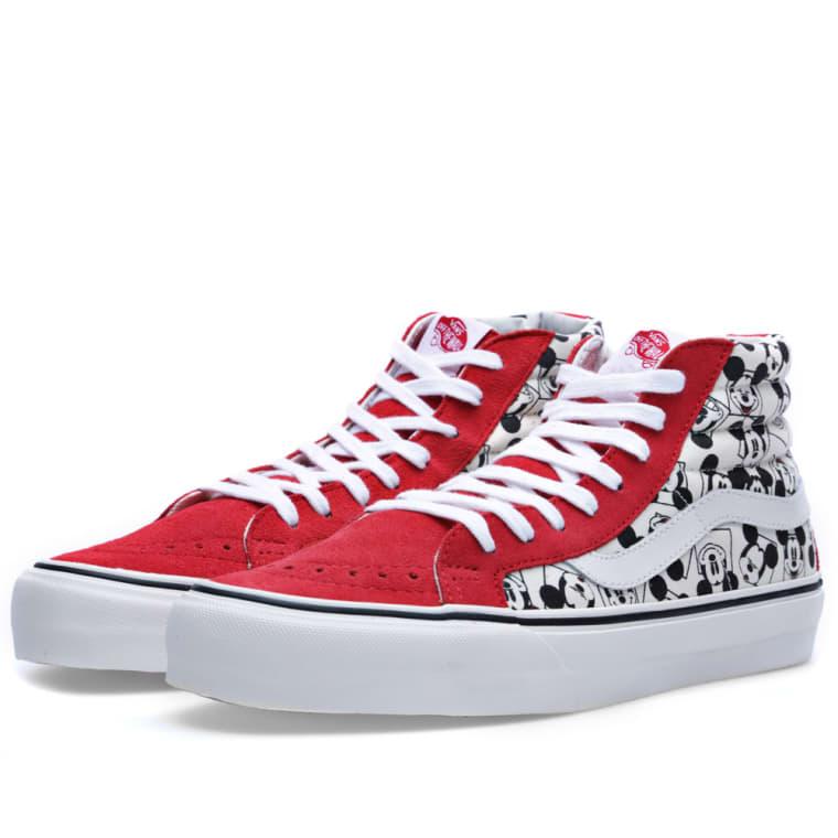 Vans Vault x Disney OG Sk8-Hi LX  Mickey Mouse Square  Classic White 208e04705