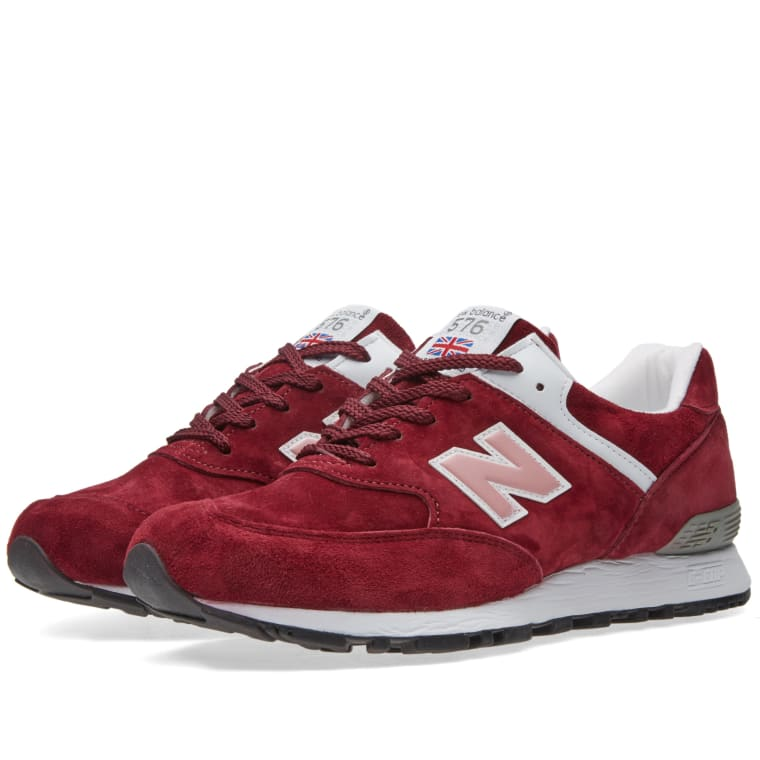 New Balance W576PMP - Made in England (Deep Red   Pink)  1dbbbec0e69