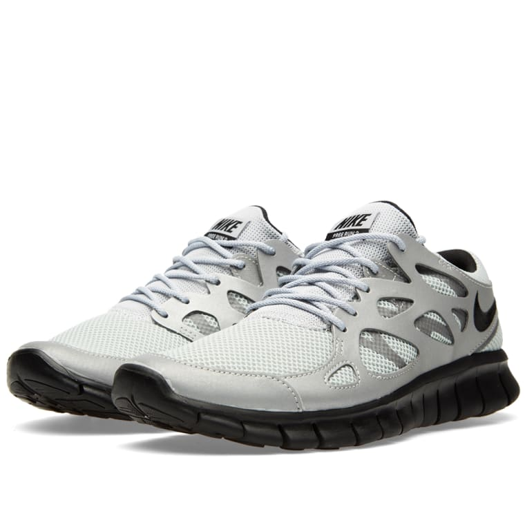 Nike Free Run 2 (Metallic Silver  Black)  END.