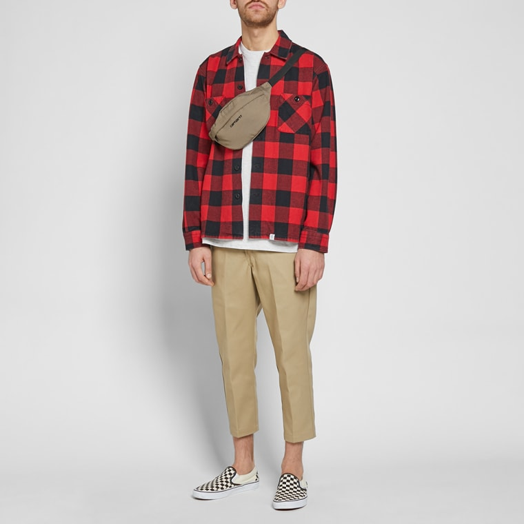01c965c4 Bedwin & The Heartbreakers Rogers Buffalo Check Flannel Shirt (Red ...