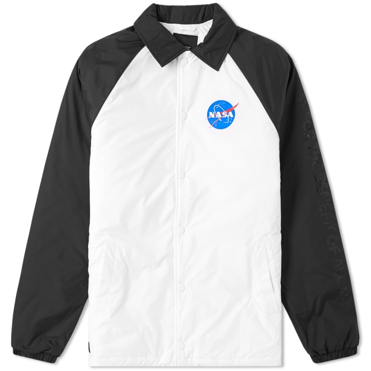 Vans Coach Jacket Space White Black End