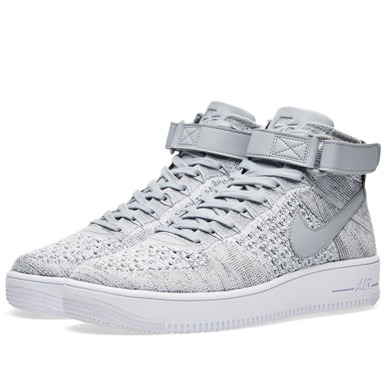 11d3d634fda02 Nike Air Force 1 Flyknit (Wolf Grey   White)