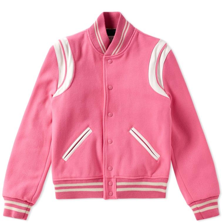 Saint Laurent Teddy Jacket Pink FLAT 1