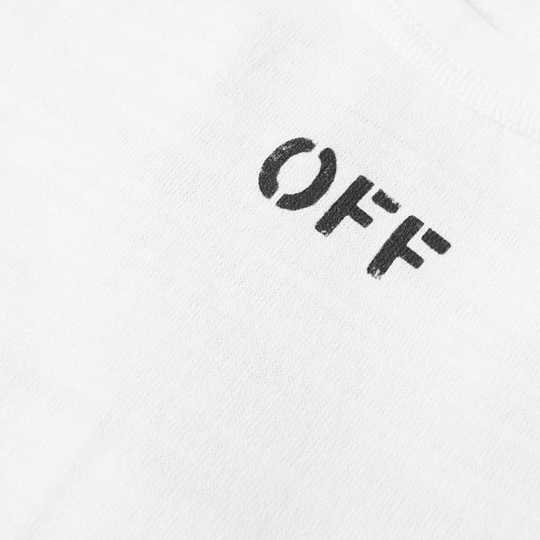 Off White Quotes Long Sleeve Tee White Amp Black End