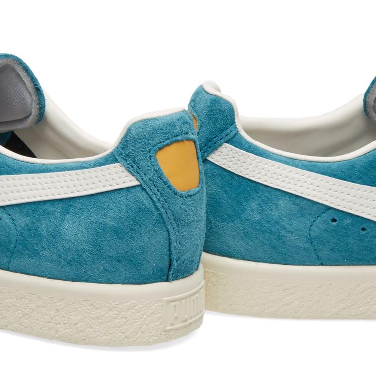 08a558a09b6 Puma Clyde Premium (Harbour Blue   White )
