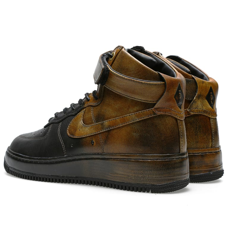 Air force one NIKE Air Force 1 High Black Black Brown Brown 27.5M with box and 677129 090 Pigalle PIGALLE collaboration