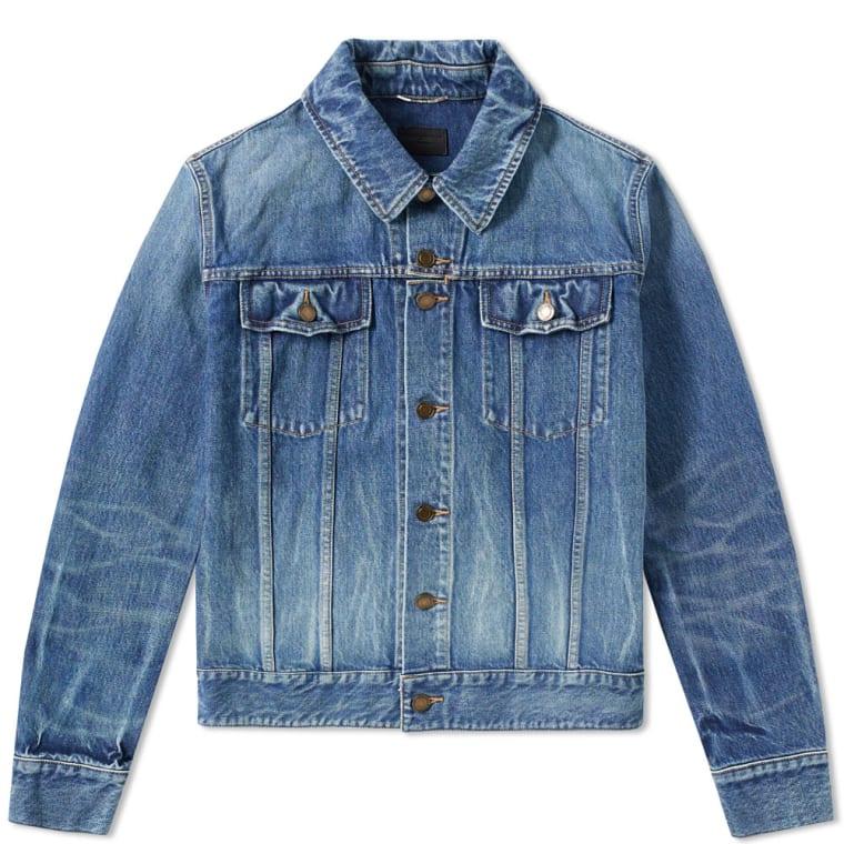 Saint Laurent Classic Denim Jacket (Washed Indigo)   END.