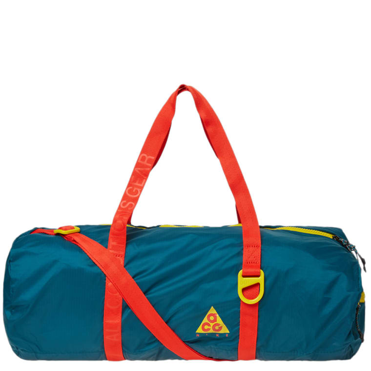 Nike Acg Nsw Packable Duffle Bag Geode Teal Midnight Spruce 1