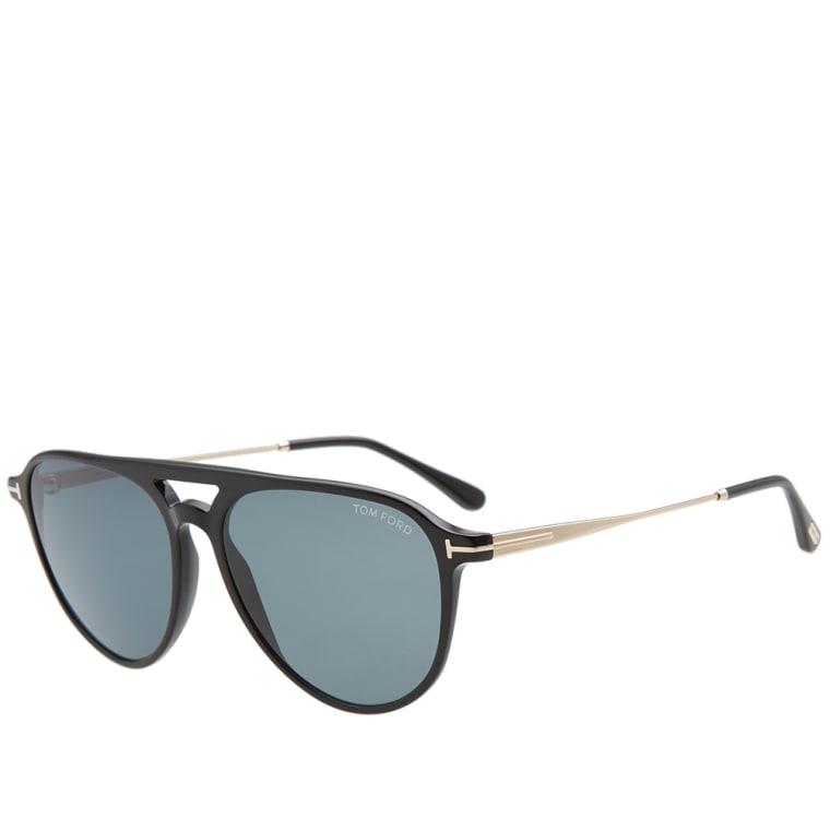 12df9189a7 Tom Ford FT0587 Carlo-02 Sunglasses (Shiny Black   Blue)