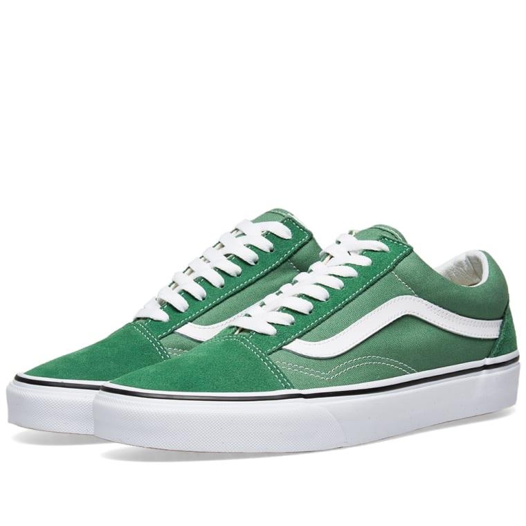 eac3aa4d79a324 Vans Old Skool (Deep Grass Green   True White)