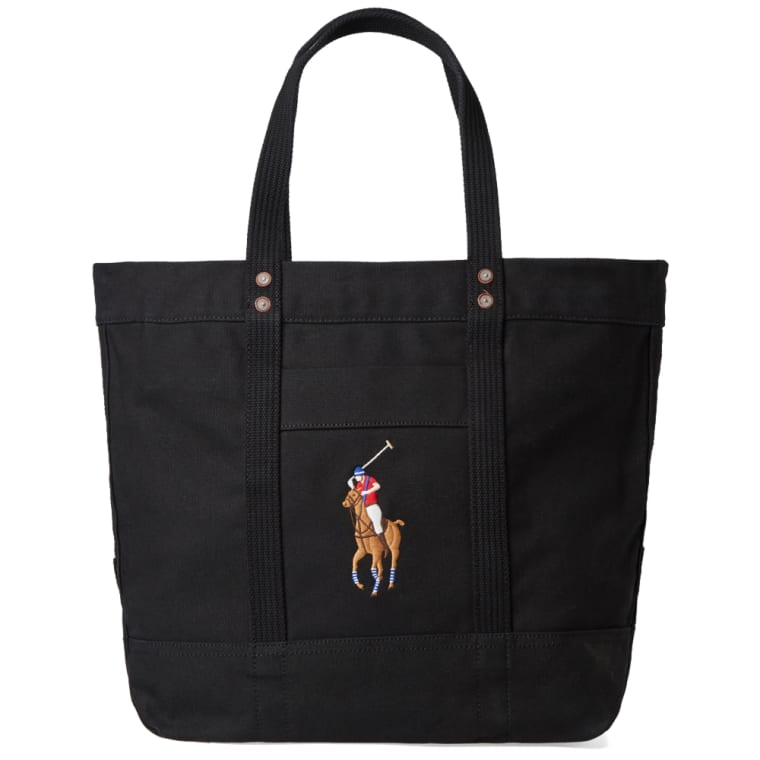 Polo Ralph Lauren Embroidered Tote Bag Black 6
