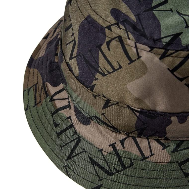 Valentino Greed Logo Bucket Hat (Camo   Black)  37d3a01024c