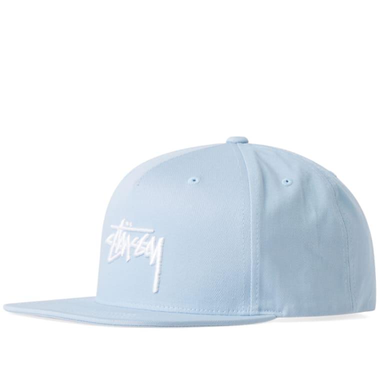 fb3375734bf Stussy Stock SU17 Snapback Cap (Light Blue)