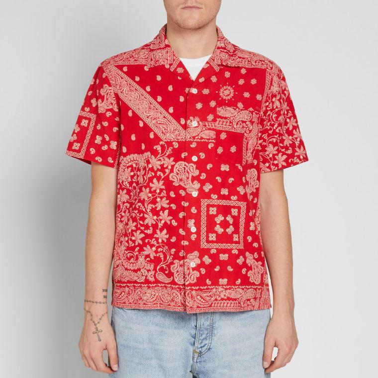 aa2ff3f89 ... shopping polo ralph lauren short sleeve bandana vacation shirt red 5  c947c 7f859 ...
