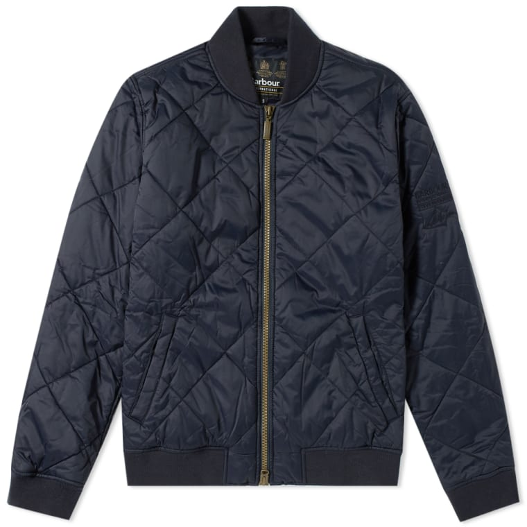 Barbour Steve Mcqueen Quilt Bomber Jacket Navy End