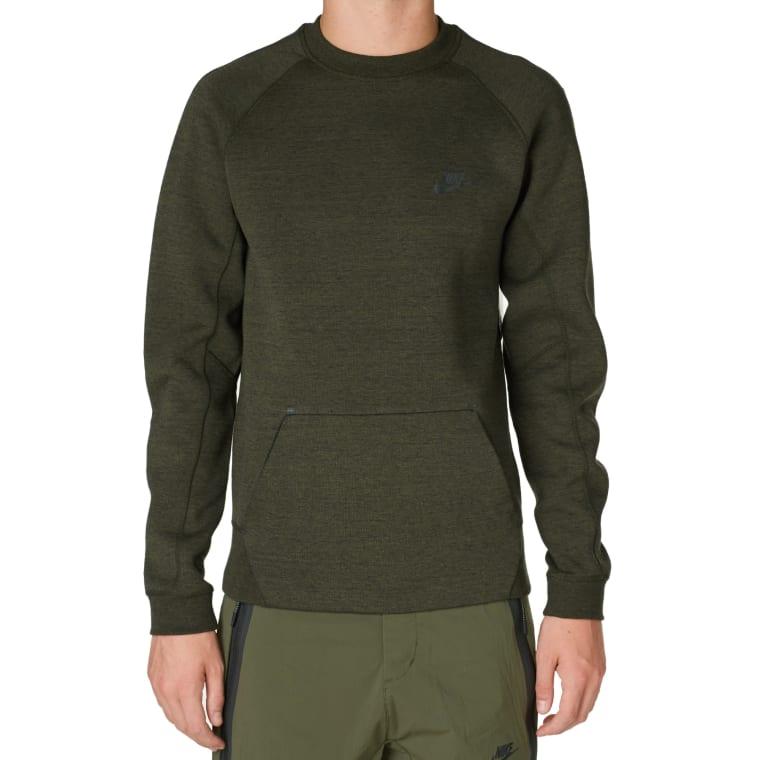 4696c3f19f5c Nike Tech Fleece Crew (Cargo Khaki   Black)