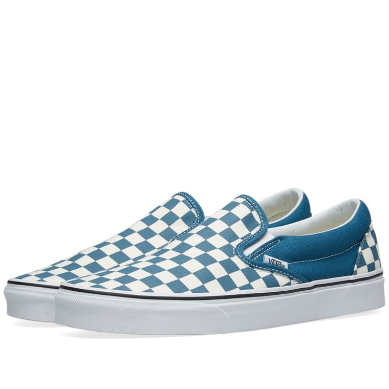 5768e75c8fda Vans Classic Slip On Checkerboard (Corsair   True White)