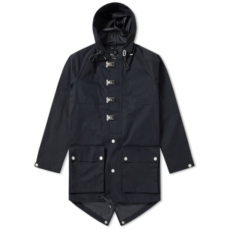 Nigel Cabourn Authentic Cameraman Fishtail Parka (Black Navy) | END.