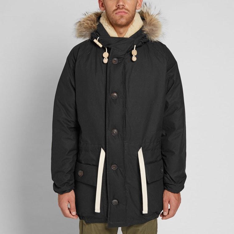 4316e0f65bdd Nigel Cabourn Authentic Everest Parka (Black)