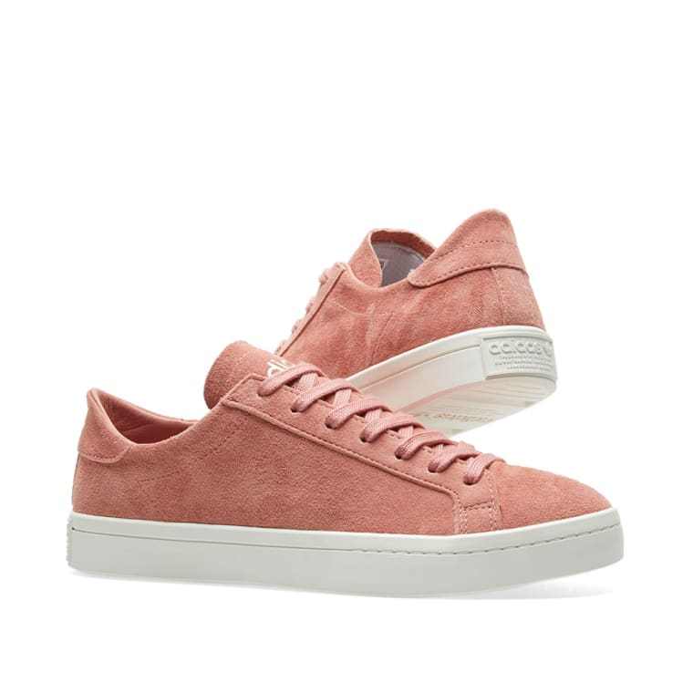 new products 58135 0a4c7 Adidas Court Vantage W Ash Pink  Off White 7