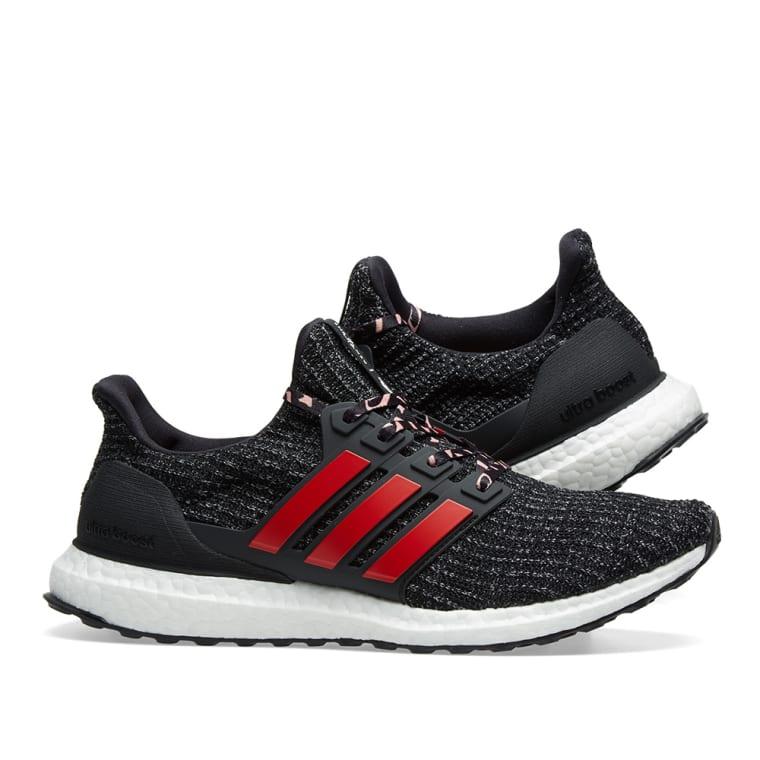 reputable site eef93 6cd36 Adidas Ultra Boost Core Black, Scarlet  Grey 7