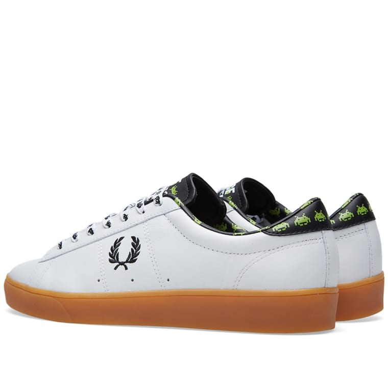 baebbcfe2 Fred Perry x Space Invaders Spencer Leather (White   Black)