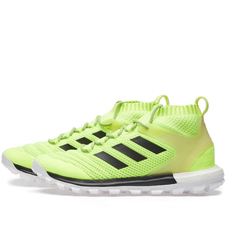 x Adidas Copa PK Mid Sneakers in Yellow,Neon Gosha Rubchinskiy