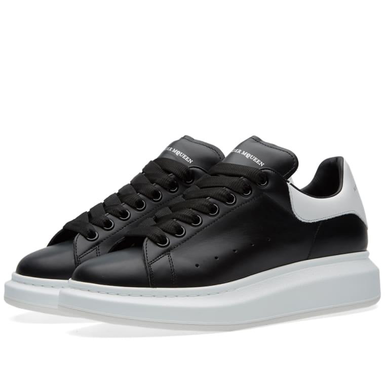 Alexander Mcqueen Oversized Sole Low Top Sneaker Black White End
