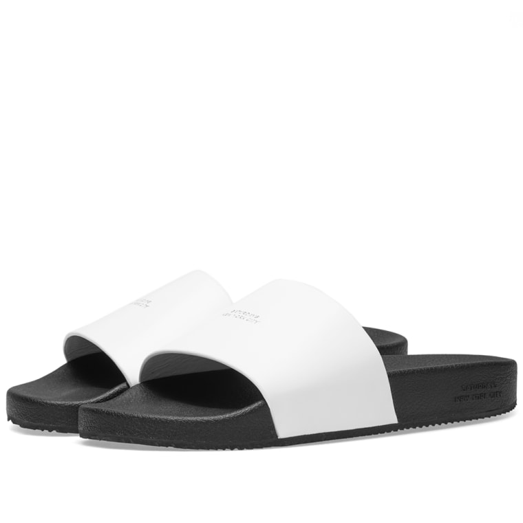 Alexander McQueen Black Banya Abrasivato Slides