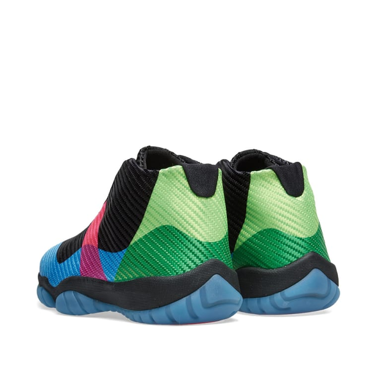9d0e243b3c6b9a ... shop air jordan future gs quai 54 black university blue pink 3 ed90e  bed09