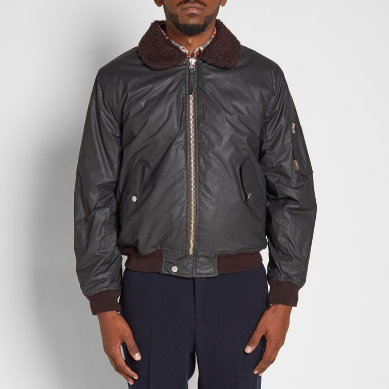 Our Legacy Flight Jacket Coated Black End