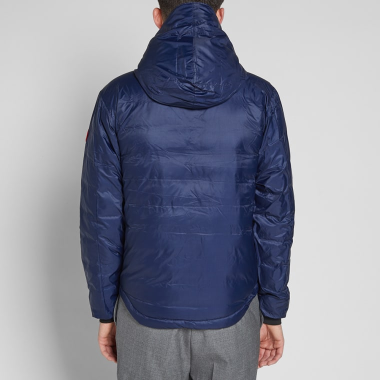 Canada Goose Lodge Fusion Fit Hooded Jacket Admiral Blue