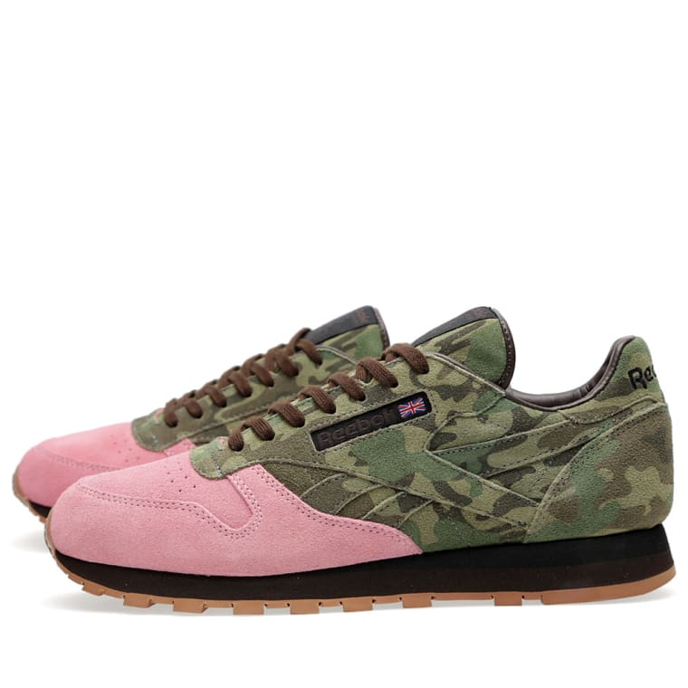 e02ae7c69196 Reebok x Shoe Gallery Classic Leather (Camo   Pink)
