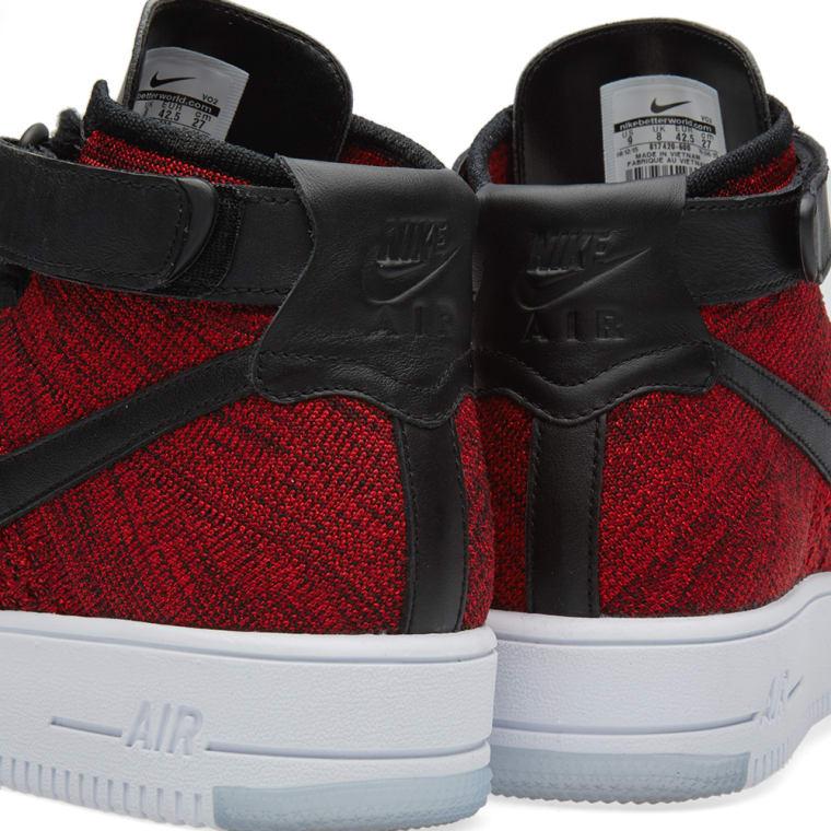 183b35fbb35 Nike Air Force 1 Flyknit (University Red   Black)