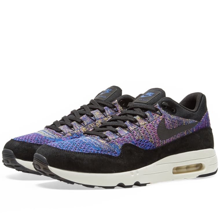 283c9648e9aa ... coupon for nikelab air max 1 flyknit racer blue black purple 1 fadbc  d9cee