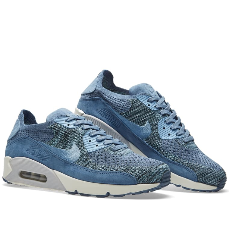 e30474f8396ad ... 876320 400 mens sz 6.5 athletic a4689 6258f  greece nikelab air max 90  flyknit ocean fog work blue 7 dc990 3ba77