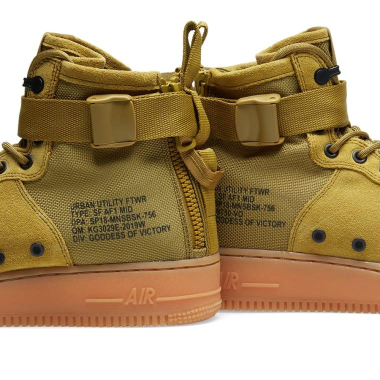 new product 17b92 e4e81 Nike SF Air Force 1 Mid Desert Moss, Gum  Black 5