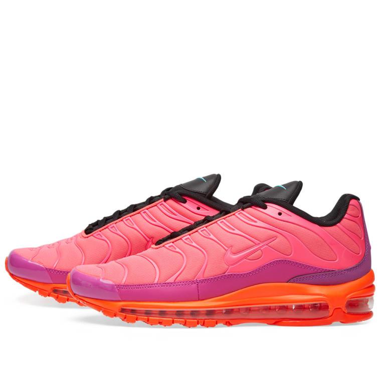 Nike Air Max 97 Plus: Nike Air Max 97 Plus (Racer Pink, Magenta & Crimson)