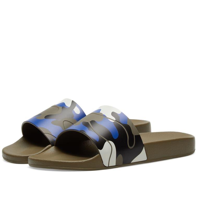 Valentino 2017 Camo Slide Sandals