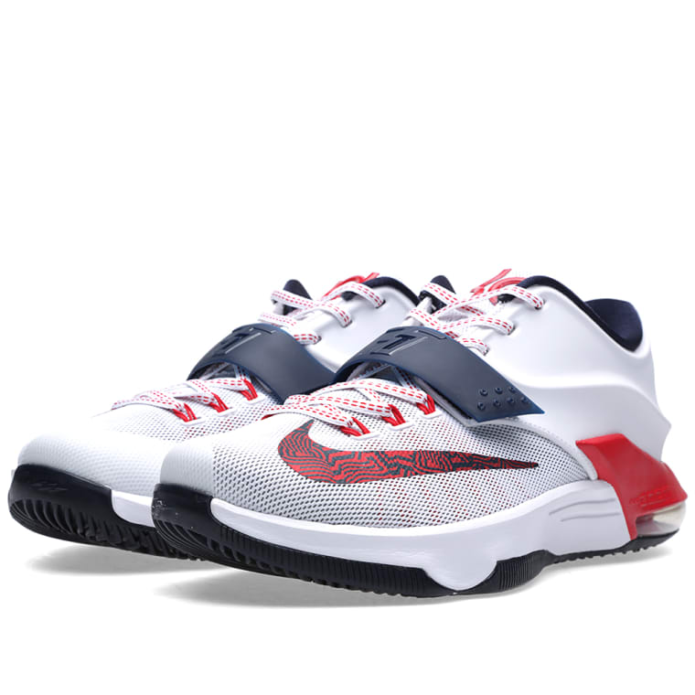 reputable site 88190 43d6b ebay sale 2015 kevin durant nike kd 7 vii independence day white obsidian  university 653996 146 cheap 16e69 d4689  australia nike kd vii independence  day ...