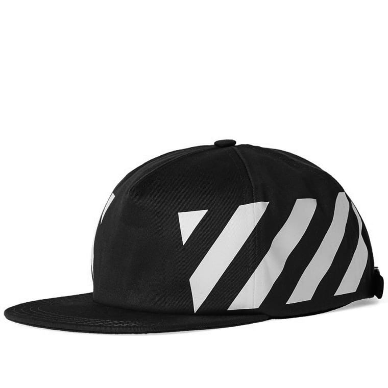 Off-White Diagonals Cap (Black & White) | END.