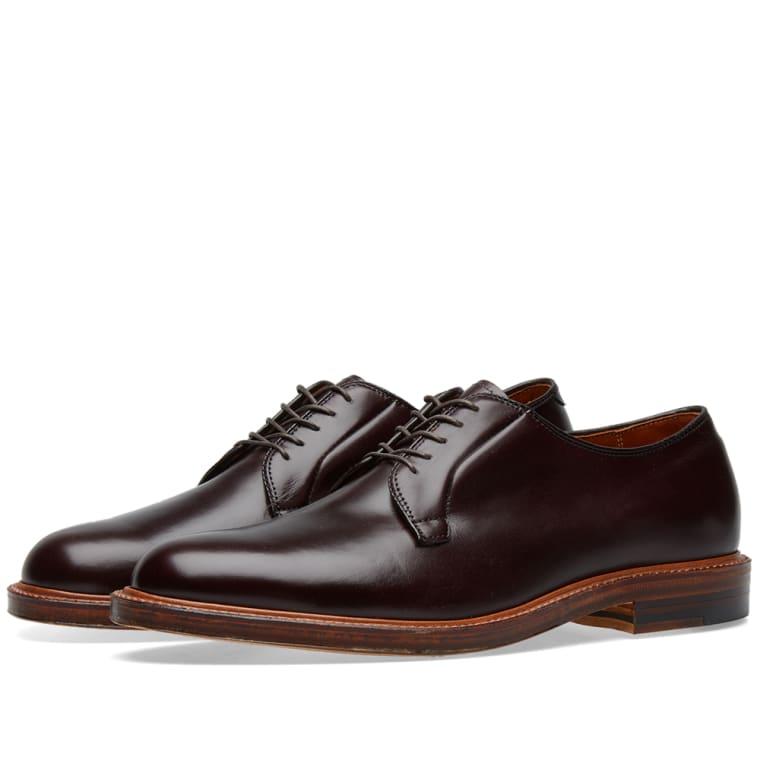 plain toe blucher schoen