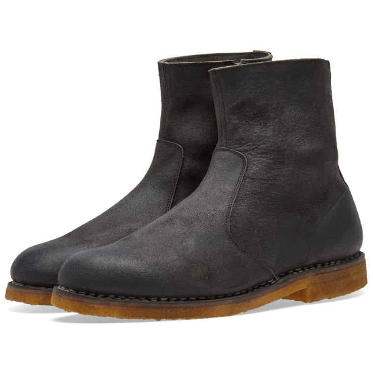 Maison Margiela Waxed Leather Ankle Boots