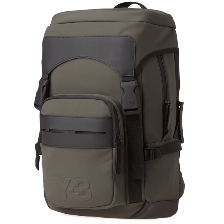 Y-3 Ultratech Backpack (Black Olive)   END. e5aceb47aa