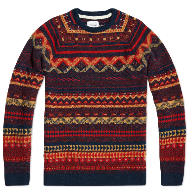 Norse Projects Birnir Fair Isle wool Knit (Multi) | END.