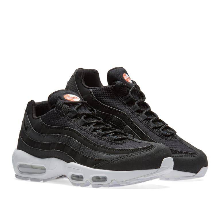 cdaf0df3a8a7 1d554 fe193 discount nike air max 95 premium se black white team orange 7  3cf47 e42b8 ...