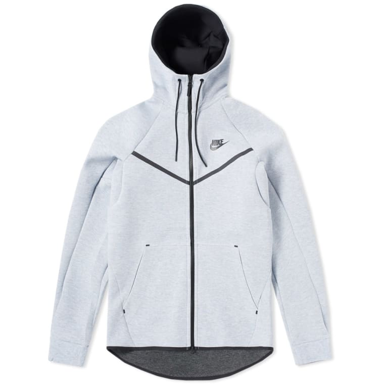 Nike Tech Fleece Windrunner (Glacier Grey, Heather   Black)   END. 1cff241ce0d5