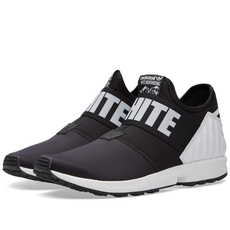 adidas x white mountaineering zx flux plus black 1