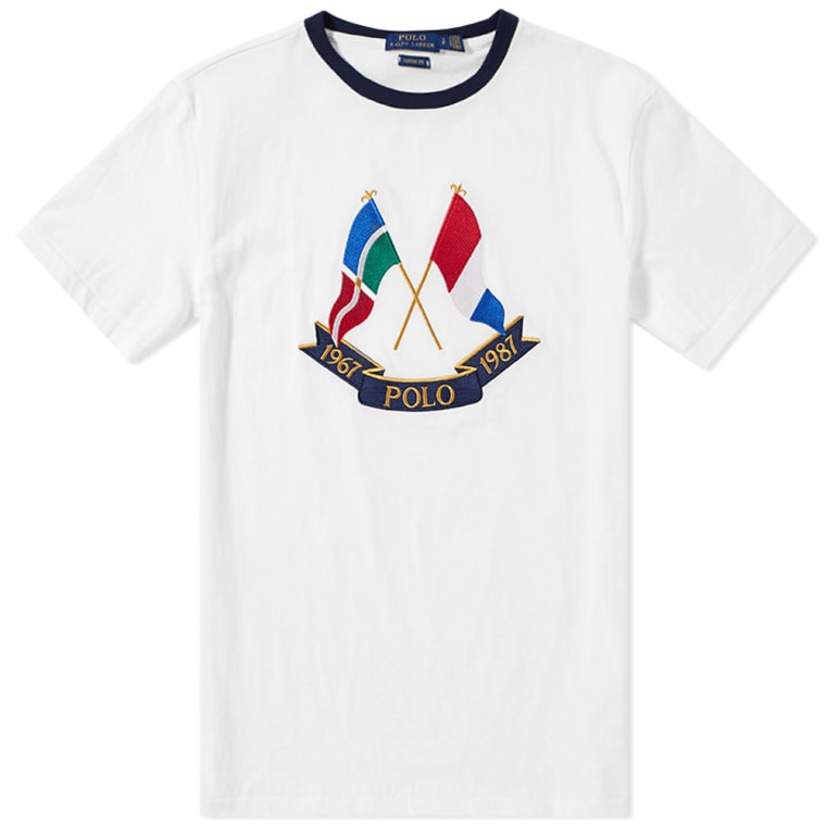 Polo Ralph Lauren Crossed Flags Tee White 1