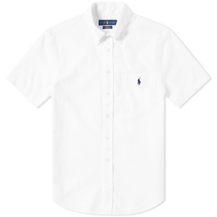 Polo Ralph Lauren Short Sleeve Seersucker Shirt White 1